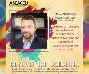 """USJ participated in the Webinar-Workshop """"Beyond the Pandemic: Best Practices towards Sustainable Development"""""""
