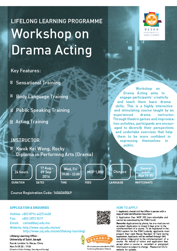 Workshop on Drama Acting Draft