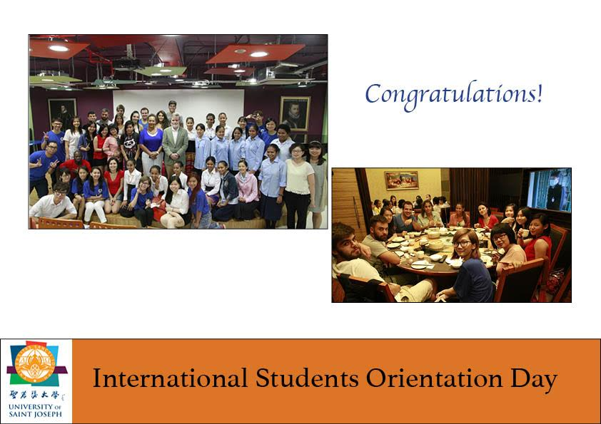 OUR FIRST INTERNATIONAL STUDENTS ORIENTATION AT USJ
