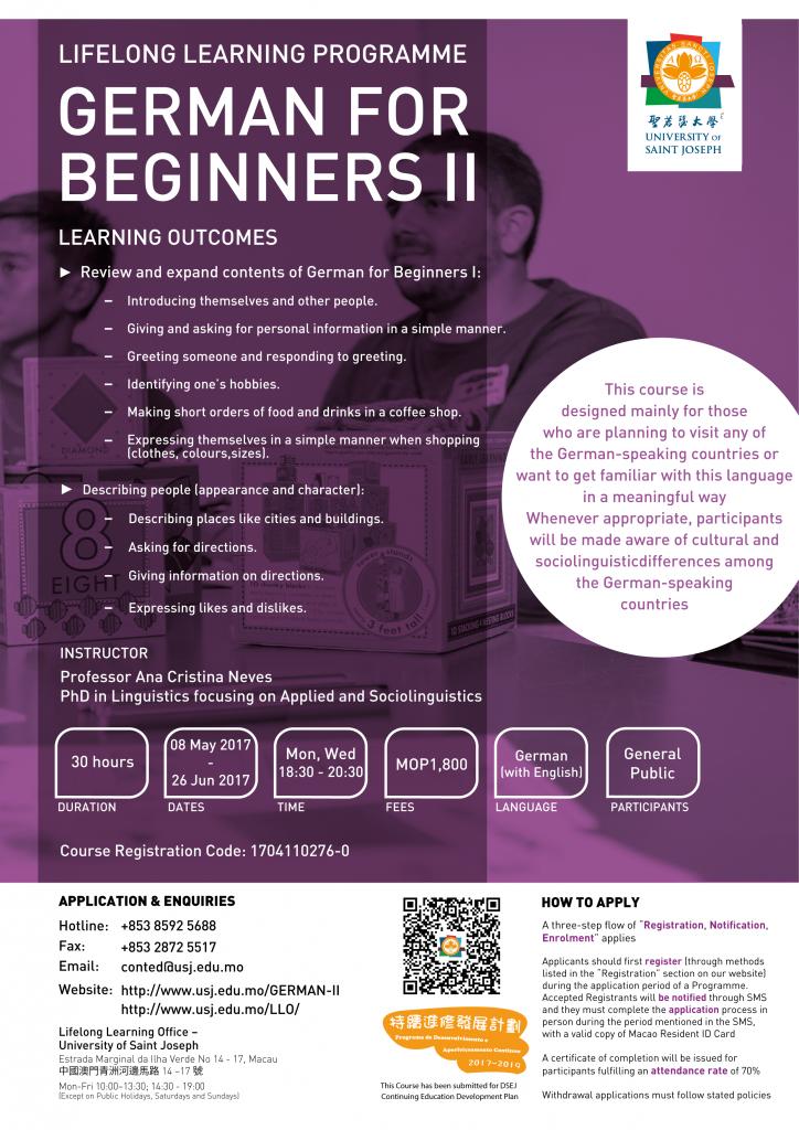 German for beginner II