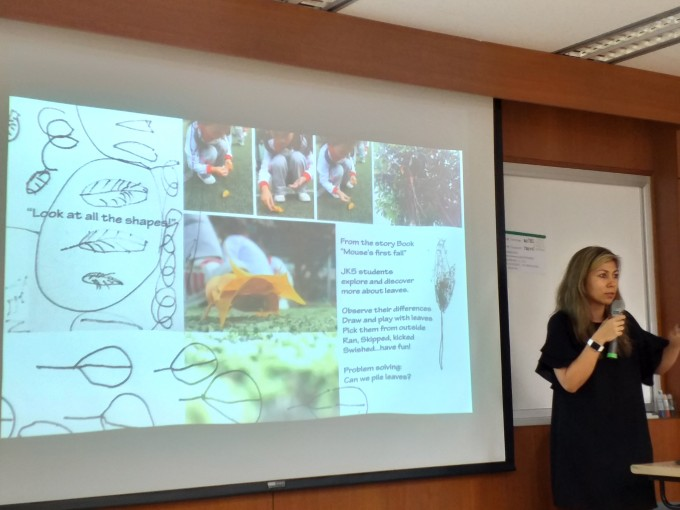 "Picture 2. PhD students Nair Cardoso presented her master study result topic ""Determining the effectiveness of sensory play and exploration in early childhood - A Quasi-experime"